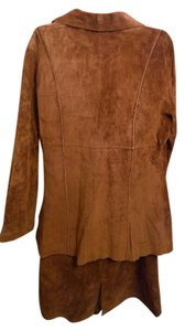 Wison Studios Wison , Pelle Studio Suede brown leather skirt suit