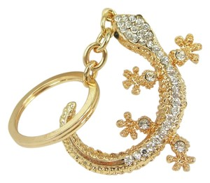 Other Gold Metal and Rhinestone Key Chain Key Ring Free Shipping