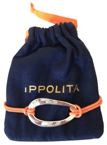 Ippolita Orange cord Ippolita bracelet with sterling silver oval ornament NEW