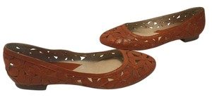MICHAEL Michael Kors Full Leather Upper Brown Flats