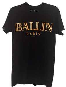 Brian Lichtenberg Ballin Paris T Shirt Black/Gold