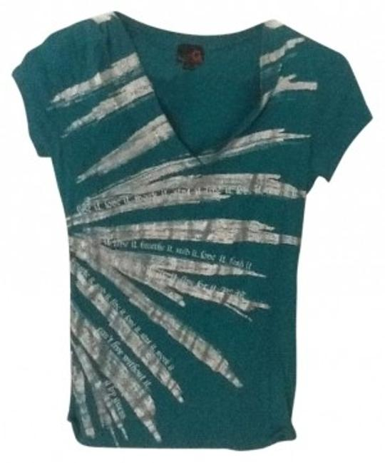 Preload https://item5.tradesy.com/images/guess-teal-graphic-print-tee-shirt-size-4-s-147319-0-0.jpg?width=400&height=650