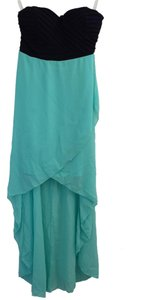 mint green/black Maxi Dress by Other High-low Strapless