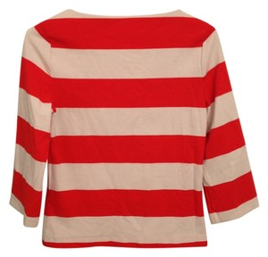 Forever 21 Striped Bold Stripe Top red/white