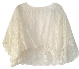 Beyond Vintage Lace Shear Top Cream / ivory