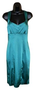 Calvin Klein short dress Green Fitted Summer Stretchy Back Zipper on Tradesy