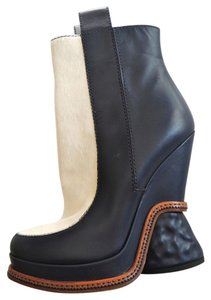 Fendi Navy White Wedge Navy/White Boots