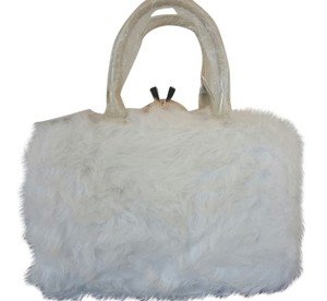 Other Imitation Fur With Tags Tote in White