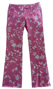 J.Crew Size 6 Floral Low Fit Trouser Pants Pink and white