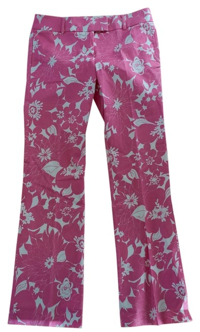Item - Pink and White Low Fit Pants Size 6 (S, 28)