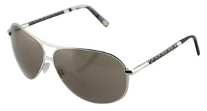 Tod's Tod's 60mm Woven Leather Temple Aviator Sunglasses