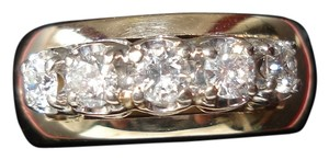 Other Substantial Wide 14kt diamond anniversary band