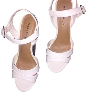 Madden Girl White Wedges