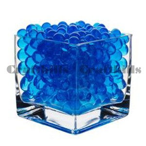100g Blue Water Bead Make 2.5 Gallons Water Jelly Crystal Gel Ball For Wedding Party Home Floral Eiffel Tower Vase Art