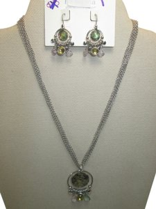 Lia Sophia Lia Sophia abalone set necklace and earrings, gorgeous