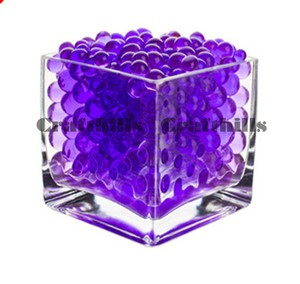 100g Purple Water Bead Make 2.5 Gallons Water Jelly Crystal Gel Ball For Wedding Party Home Floral Eiffel Tower Vase Art