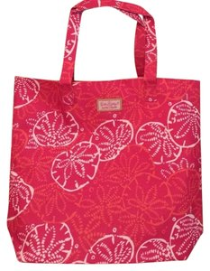 Lilly Pulitzer Tote in Bright Pink, Orange, White Sandollars