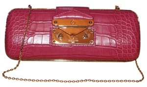 Louis Vuitton Crocodile Alligator Exotic Pink Clutch