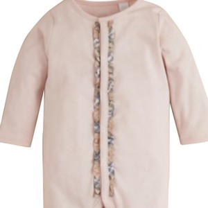 Ice Pink & Blue Maxi Dress by Burberry Baby Infant