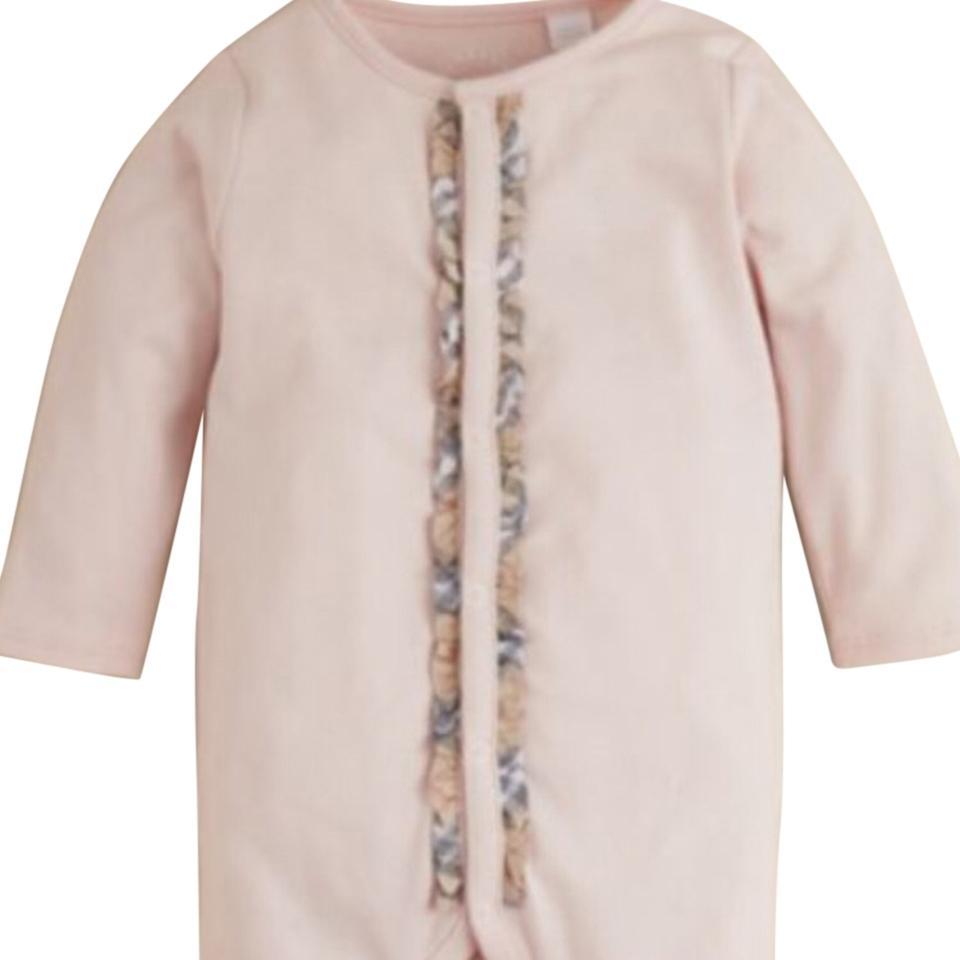 533cbe7d6 Burberry Ice Pink & Blue Infant Girls' and Boys 9 Monthssignature Check  Trim Footie 6 Months Casual Maxi Dress