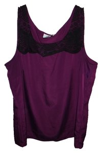 Ann Taylor LOFT Top Purple and Black