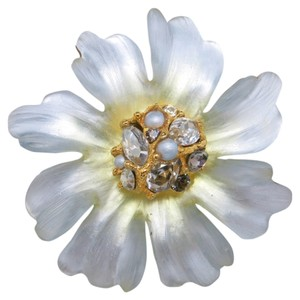 Alexis Bittar Alexis bittar Brooch Frosted clear Carved Lucite flower