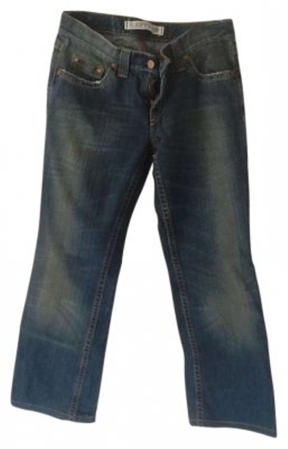 Express Straight Leg Jeans-Dark Rinse