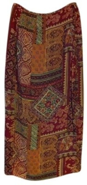 Kasper Maxi Skirt Multi Browns