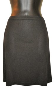 Banana Republic Stretchy Mini Machine Washable Rayon Mini Skirt Black
