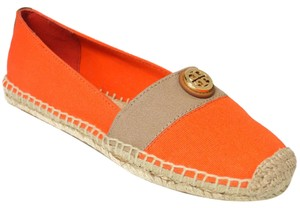 Tory Burch Beacher Espadrille Beacher Poppy Red / Khaki / Tan Flats