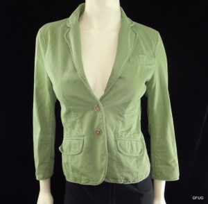 J.Crew J Crew Army Green Chino Twill Blazer Jacket Factory Weathered Broken In