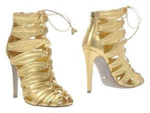 Sergio Rossi Gold Pumps