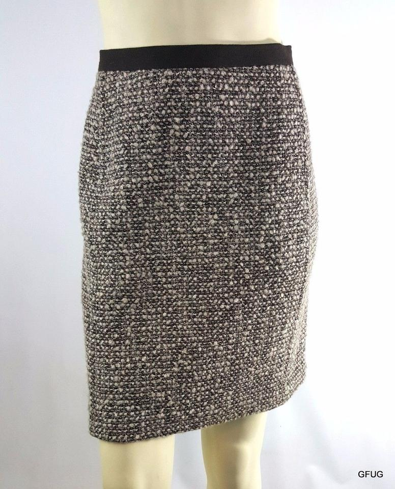 d8961e9d8e Talbots 10p Brown Wool Blend Woven Tweed Knit Straight Pencil Classic Skirt  Multi-Color Image ...