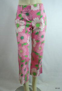 Lilly Pulitzer Cotton Capri/Cropped Pants Pink