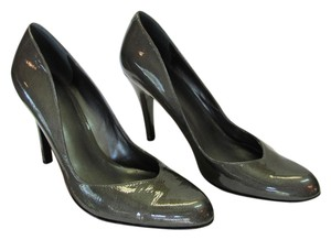 Nine West Size 8.00 M Patent Leather Dark Gray, Pumps