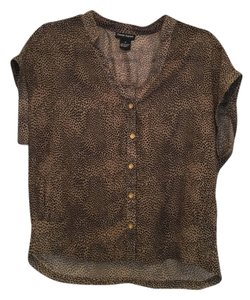 Cotton Express Animal Print Cheetah Top