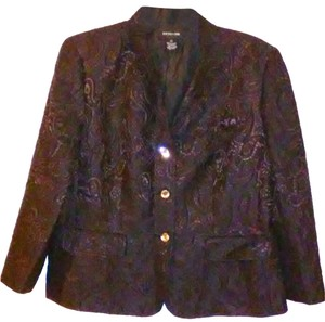 Focus 2000 Bejeweled Paisley Black Blazer