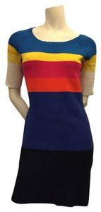 Lacoste short dress Multi-color Striped Color-blocking on Tradesy