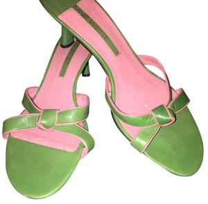 Nine West Kelly Green and Pink Sandals