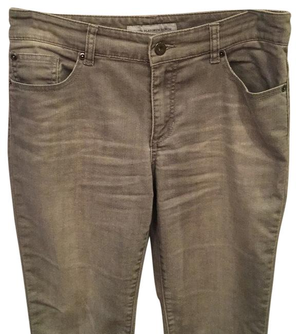 Item - Grey Platinum Denim: Ultimate Fit Slim Straight Leg Jeans Size 29 (6, M)