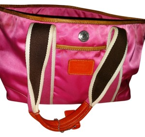 Coach Satchel in Pink, Brown