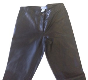 Moschino Straight Pants Black Leather