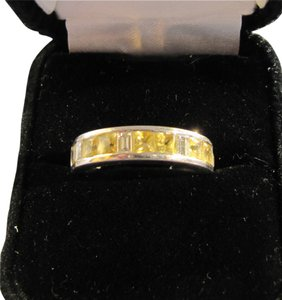 Other Beautiful Diamond & Yellow Sapphire Anniversary band