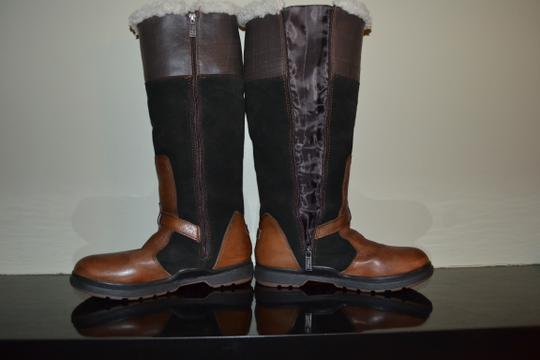 Pajar Brown Leather and suede with green leather upper Boots