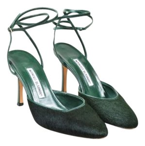 Manolo Blahnik Dark Green Pumps