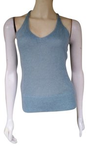 Banana Republic Fuzzy Mohair Knit Top Aqua
