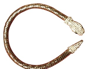Mesh Rhinestone Snake Necklace