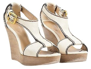 Chloé Chloe Brown Leather Beige Sandals