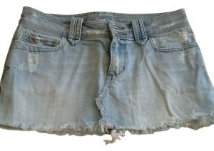 Abercrombie & Fitch Mini Skirt Light blue