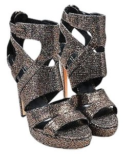 Tania Spinelli Glitter Bronze Sandals